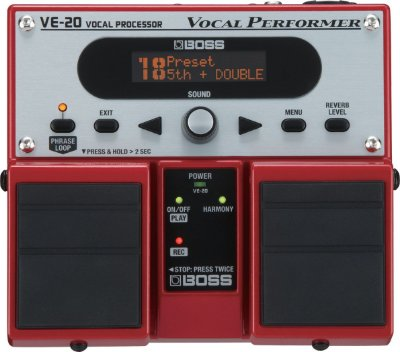 Pedal para Voz Boss VE-20 Processador Vocal