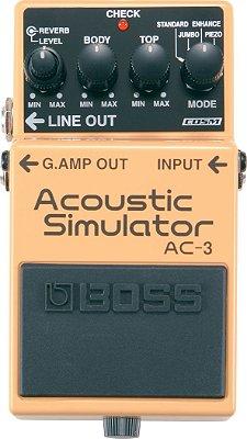 Pedal Guitarra Boss AC-3 Simulador Acústico