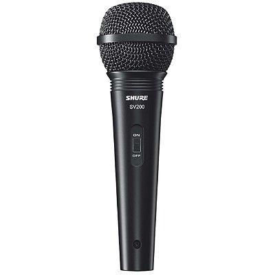 Microfone Shure Dinâmico SV200, com Fio