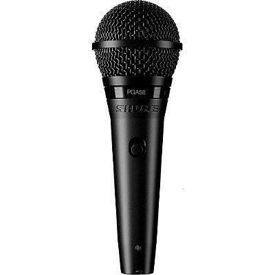 Microfone Shure Dinâmico Cardioide PGA58, com fio