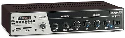 Amplificador Receiver Som Ambiente Frahm Slim 3000 USB FM - 200 Watts RMS