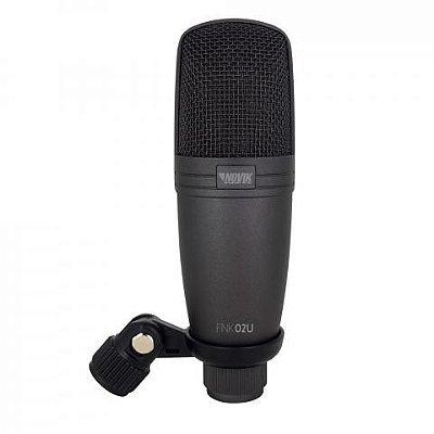 Microfone Novik Neo Condensador de Estúdio USB FNK-02U