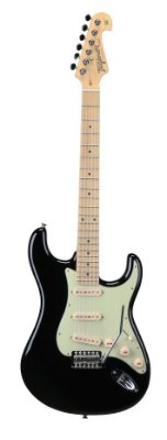 Guitarra Tagima T635 Preta com Escudo Verde Menta
