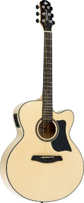Violão Eletroacústico Strinberg SJ-25C Natural Jumbo, Flamed Maple
