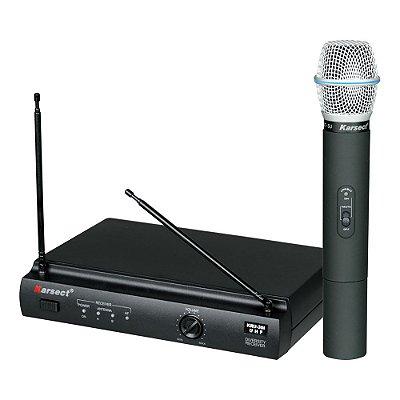 Microfone Karsect de Mão Sem Fio KRU-301 UHF