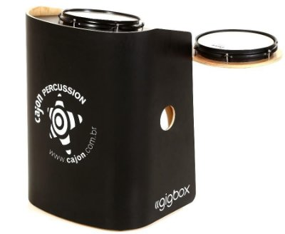 Mini Bateria Gig Box Tajon Cajon Percussion GB-PR Preto