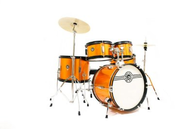 Bateria Nagano One Infantil Completa Orange