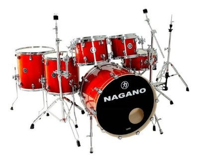 Bateria Nagano Concert Lacquer ER Smoke Red