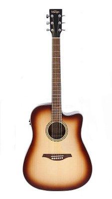 Violão Eletroacústico Vintage VEC 501 Folk Tobbaco Sunburst