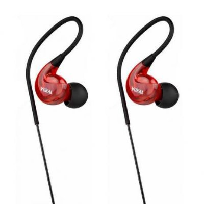 Fone de Ouvido In-Ear VOKAL E40 Vermelho
