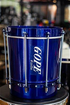 "Cuíca Gope de Alumínio Cônica 28CMx09"" Azul"