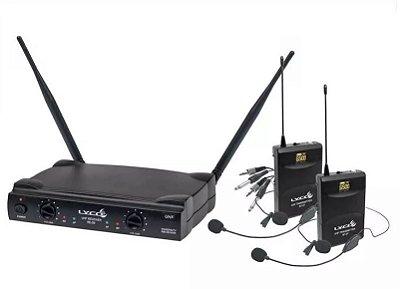 Microfone Lyco UH-08 HLIHLI Headset Duplo + Lapela C/ Fio