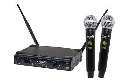 Microfone Lyco UH-08 MM Mão Duplo Sem Fio