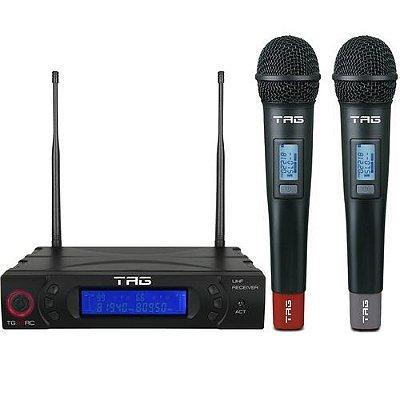 Microfone Tag Sound TG-8802  Duplo Sem Fio