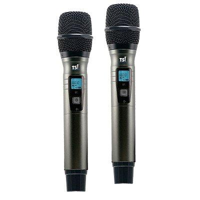 Microfone TSI BR-8000 UHF Duplo Sem Fio