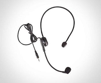 Microfone TSI Headset HS E-8M Com Fio