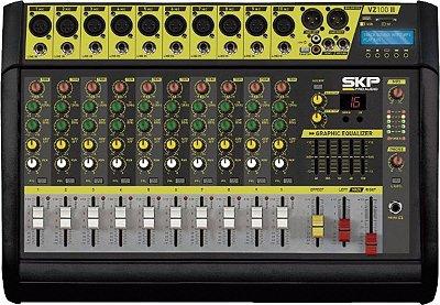 Mesa de Som Amplificada SKP VZ-100 II USB BT 10 Canais