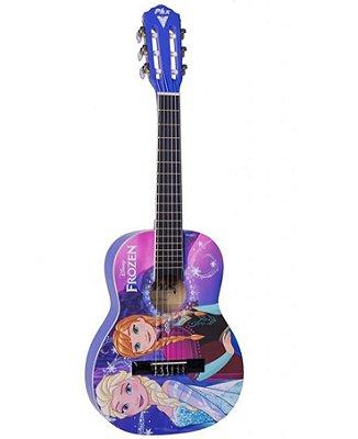 Violão Acústico Infantil Phoenix Frozen Elsa e Anna VIF-2 Rosa