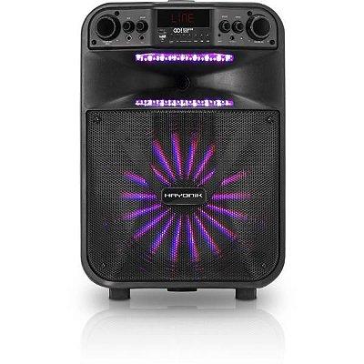 "Caixa Multiuso Portátil Hayonik GO! 300 12"" 40W RMS Bluetooth/MicroSD/USB/FM c/ Bateria"