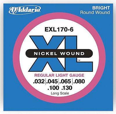 Encordoamento Baixo D'Addario EXL-170 6 cordas