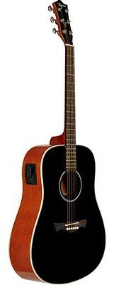 Violão Eletroacústico Folk Tagima Woodstock TW-25 Preto