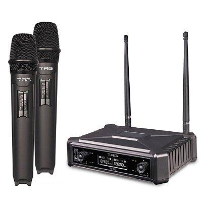 Microfone Tag Sound TMJ- 500 Duplo Sem Fio