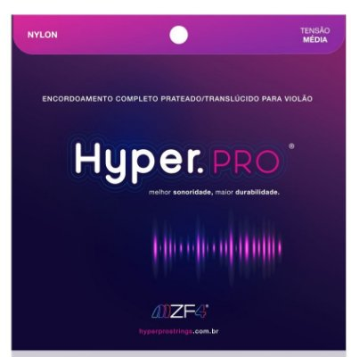 Encordoamento Violão Nylon Hyper.Pro Tensão Média