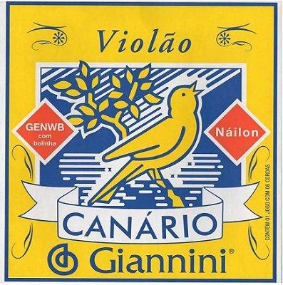 Encordoamento Violão Nylon Giannini Canário GENWB
