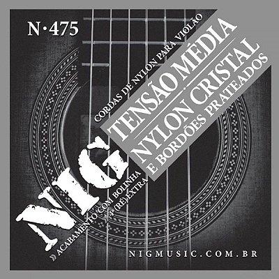 Encordoamento Violão NIG N-475 Nylon Cristal Tensão Média