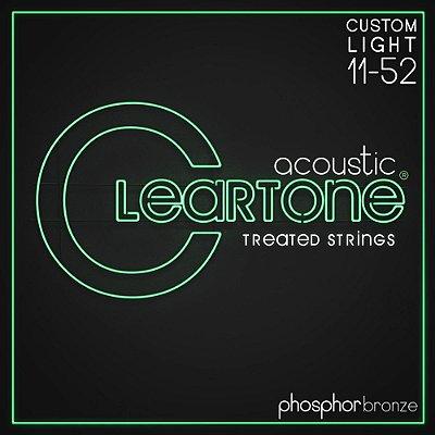 Encordoamento Violão Cleartone Phosphor Bronze Custom Light 11
