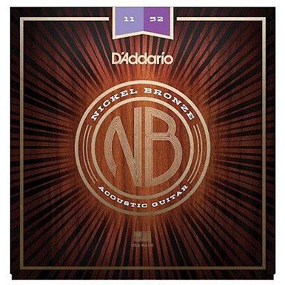 Encordoamento Violão D'Addario NB1152 Nickel Bronze Custom Light 11-52