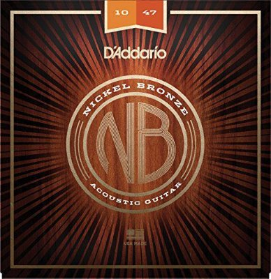 Encordoamento Violão D'Addario NB1047 Nickel Bronze Extra Leve 10-47