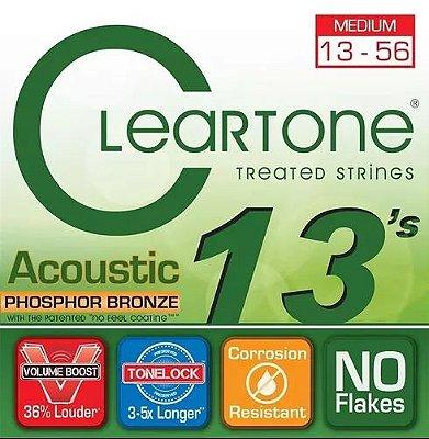 Encordoamento Violão Cleartone Phosphor Bronze Tensão Média 13