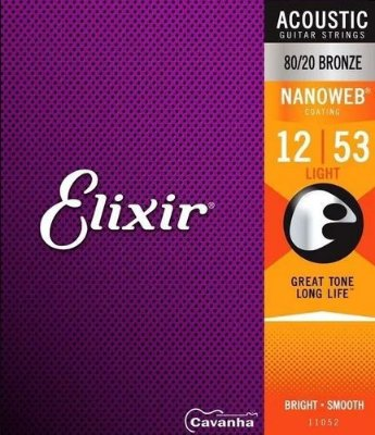 Encordoamento Violão Elixir Nanoweb Bronze Light 12-53