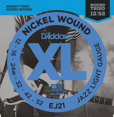 Encordoamento Guitarra D'Addario EJ21 Jazz Light 12-52