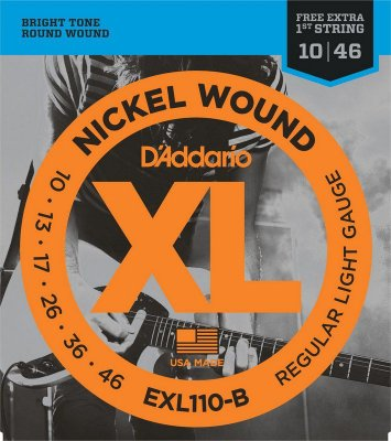 Encordoamento Guitarra D'Addario EXL110-B Regular Light 10-46