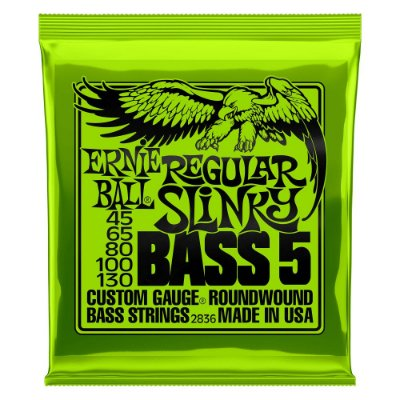 Encordoamento Baixo Ernie Ball Regular Slinky 2836 5 Cordas 045