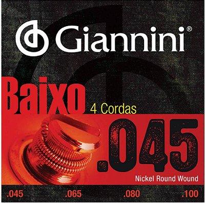 Encordoamento Baixo Giannini 4 Cordas 045 GEEBRS