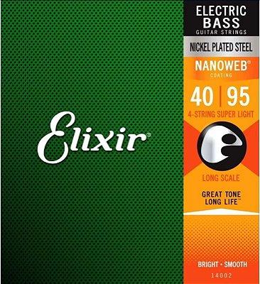 Encordoamento Baixo Elixir Nanoweb Super Light 40-95