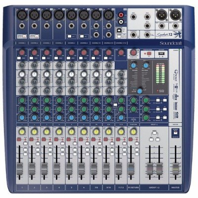 Mesa de Som Digital Soundcraft Signature 12 Canais USB