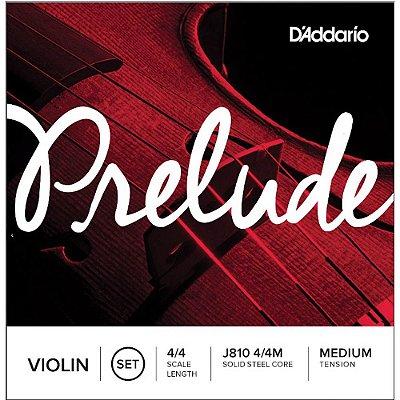 Encordoamento Violino D'Addario Prelude Tensão Média 4/4