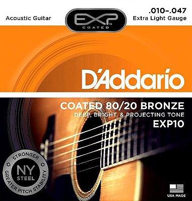 Encordoamento Violão D'Addario EXP-10 Extra Light 10-047