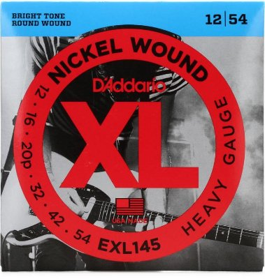 Encordoamento Guitarra D'addario EXL-145 Heavy Gauge 12-54