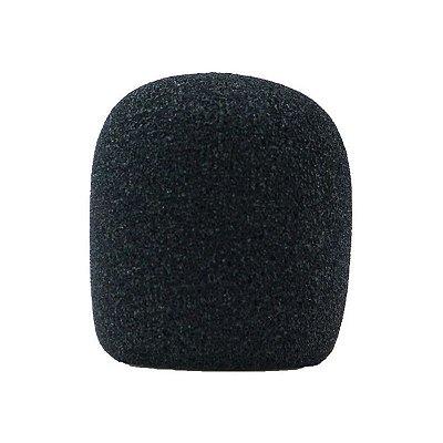 Espuma para microfone globo, cor preta, lavável