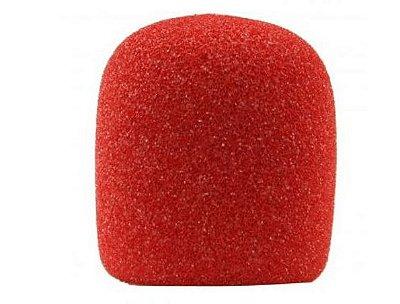 Espuma para microfone globo, cor vermelha, lavável