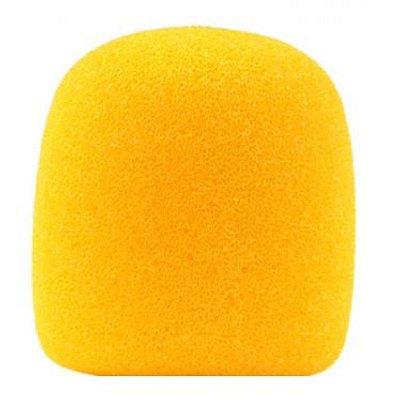 Espuma para microfone globo, cor amarela, lavável