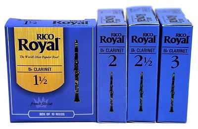 Palhetas Rico Royal Clarinete Caixa Com 10 + Brinde