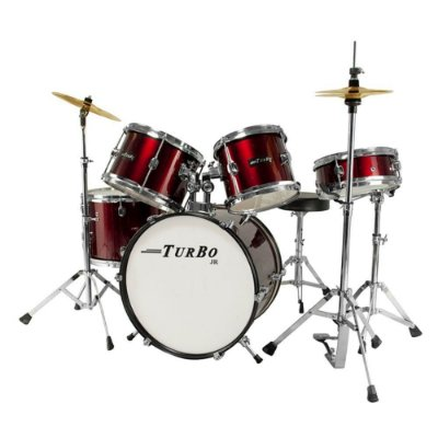 Bateria Infantil Turbo Junior 4322 Vermelha