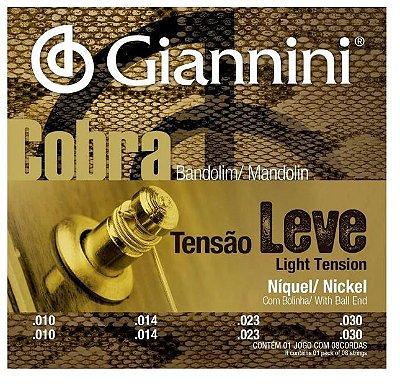 Encordoamento Bandolim Giannini 0.10 Cobra Tensão Leve