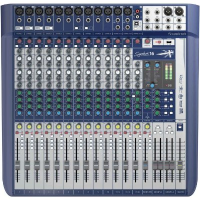 Mesa de Som Digital Soundcraft Signature 16 Canais USB